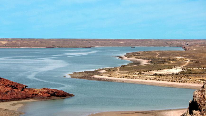 Bahía Concordia desde el mirador van noort